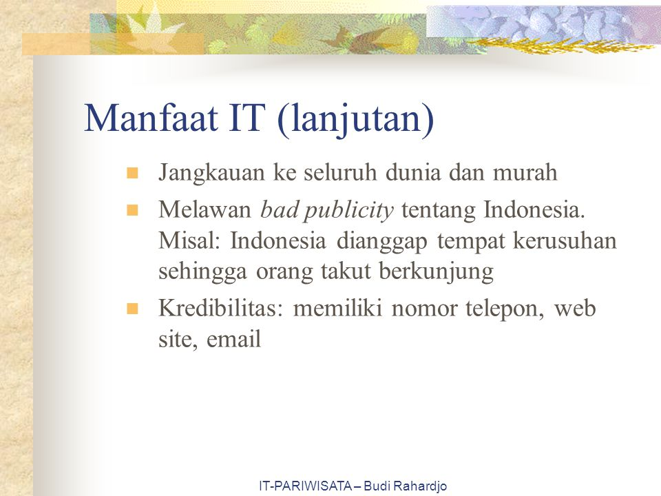 IT-PARIWISATA – Budi Rahardjo www.easttnvisit.com Map Golf course Heritage trail Annual events Water recreation State parks Recreation area Air Travel Contact us