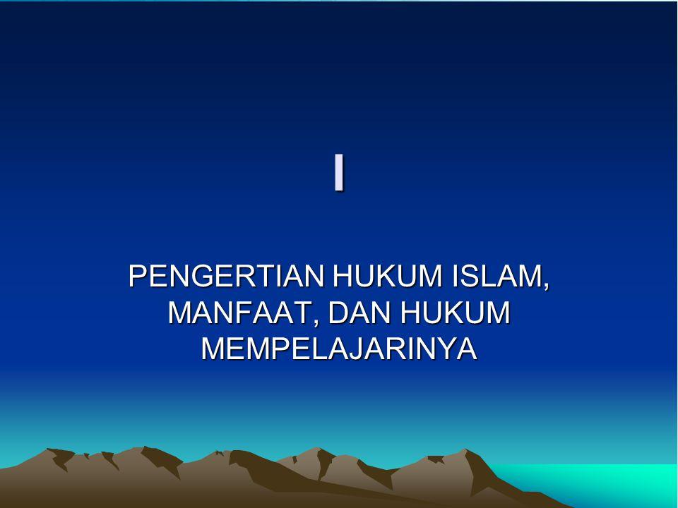 PENGANTAR HUKUM ISLAM M. Sularno Prodi Hukum Islam Fakultas Ilmu Agama Islam Universitas Islam Indonesia