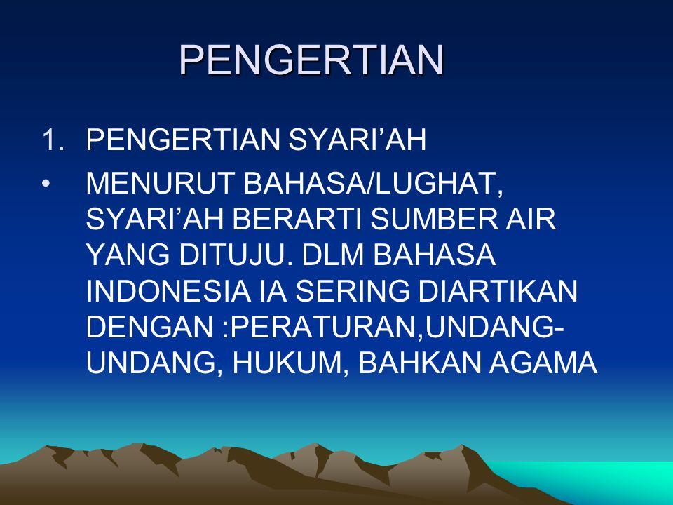 I PENGERTIAN HUKUM ISLAM, MANFAAT, DAN HUKUM MEMPELAJARINYA