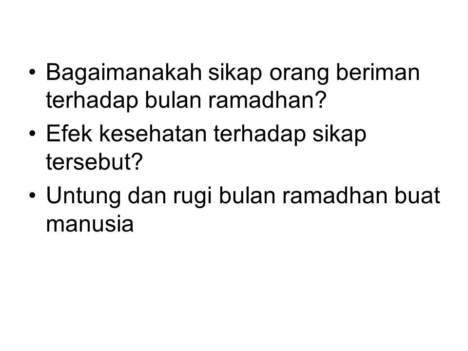 Bagaimanakah sikap orang beriman terhadap bulan ramadhan.
