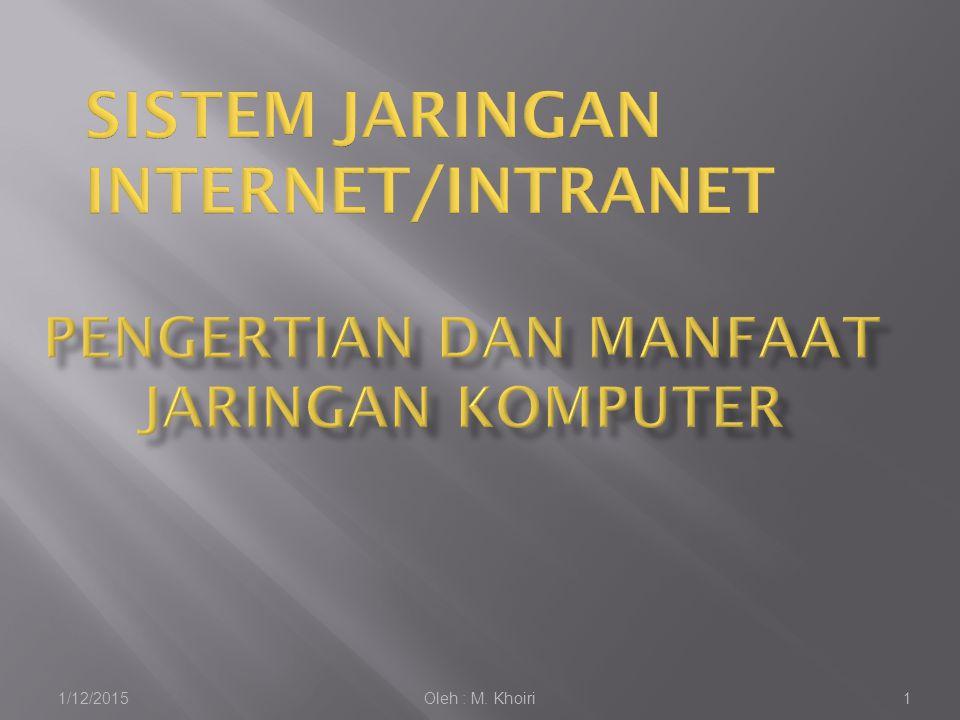  Jaringan komputer adalah sebuah kumpulan komputer, printer, dan peralatan lainnya yang terhubung dalam satu kesatuan.