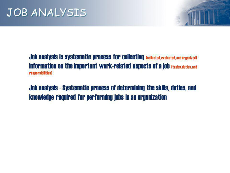 JOB ANALYSIS Don't Mix These Up!.