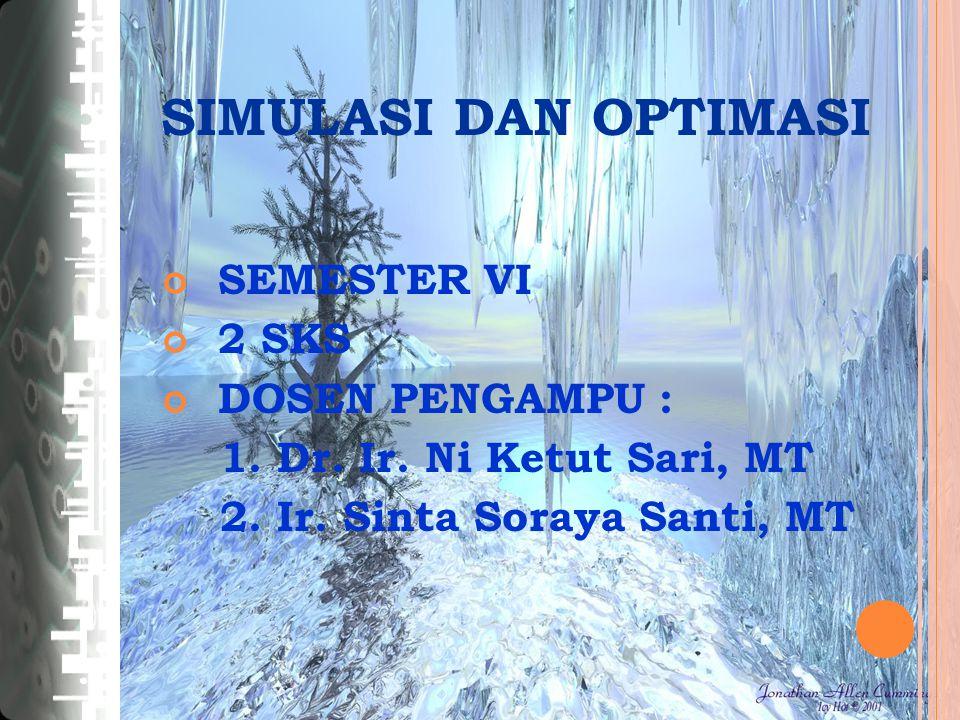 SEMESTER VI 2 SKS DOSEN PENGAMPU : 1. Dr. Ir. Ni Ketut Sari, MT 2.