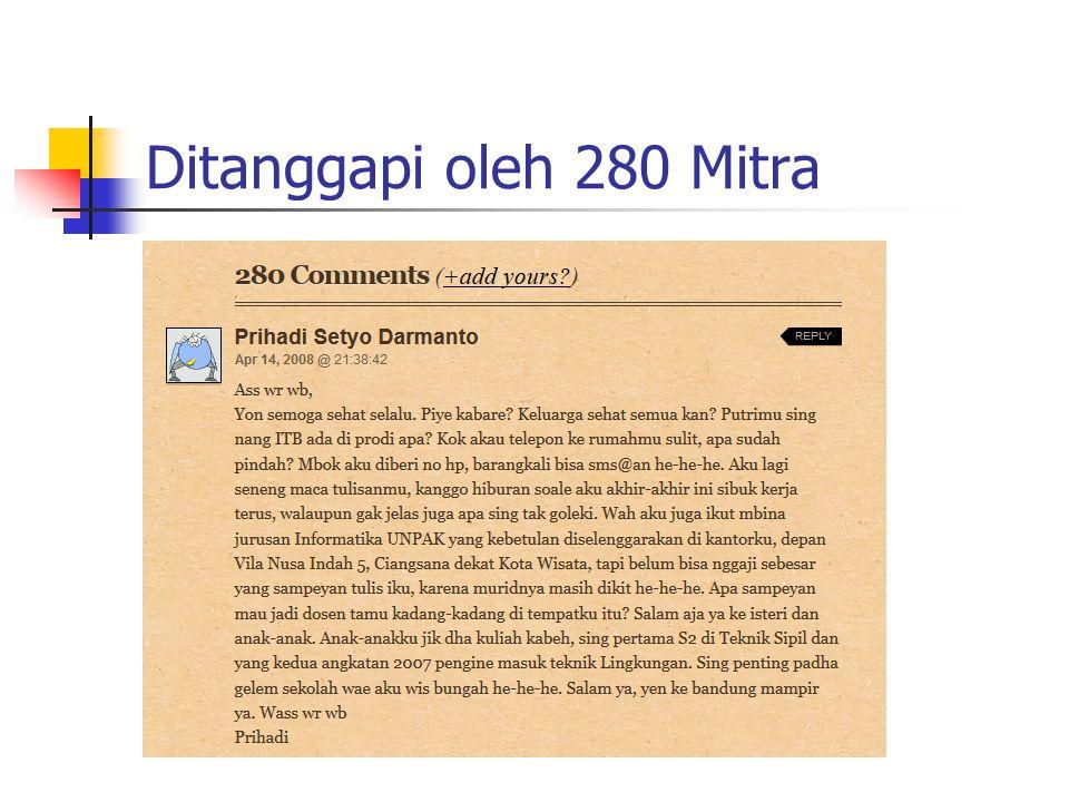 Ditanggapi oleh 280 Mitra
