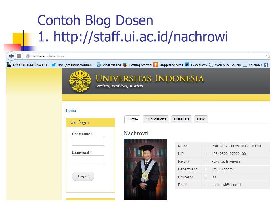 Contoh Blog Dosen 1. http://staff.ui.ac.id/nachrowi