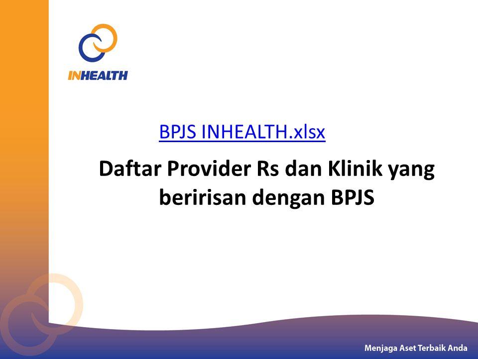 Daftar Provider Rs dan Klinik yang beririsan dengan BPJS BPJS INHEALTH.xlsx