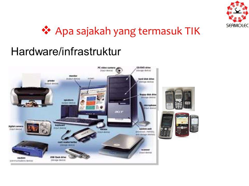  Apa sajakah yang termasuk TIK Hardware/infrastruktur
