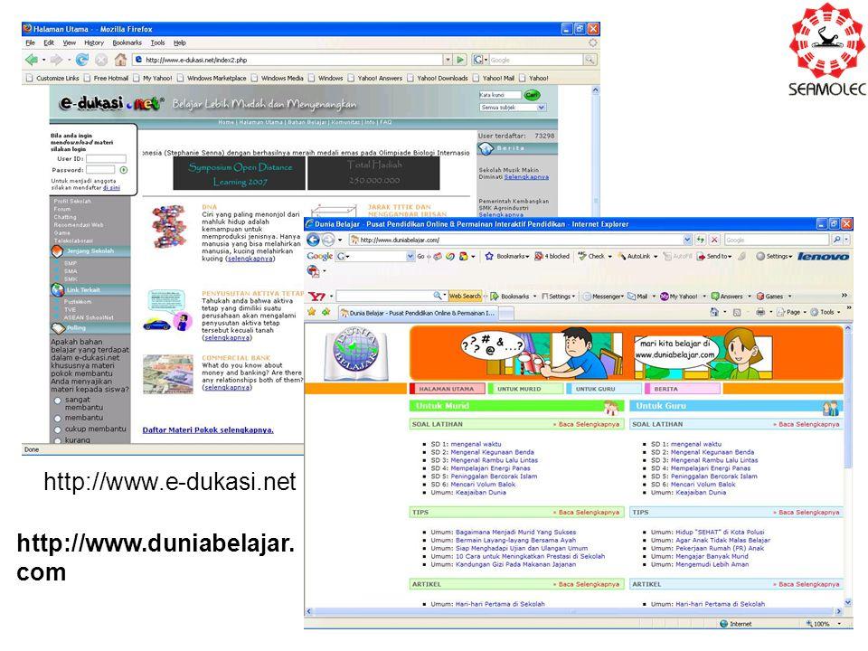 http://www.e-dukasi.net http://www.duniabelajar. com