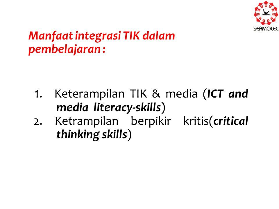 Manfaat integrasi TIK dalam pembelajaran : 1.