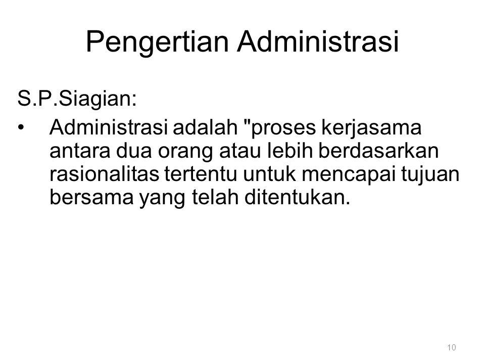 S.P.Siagian: Administrasi adalah