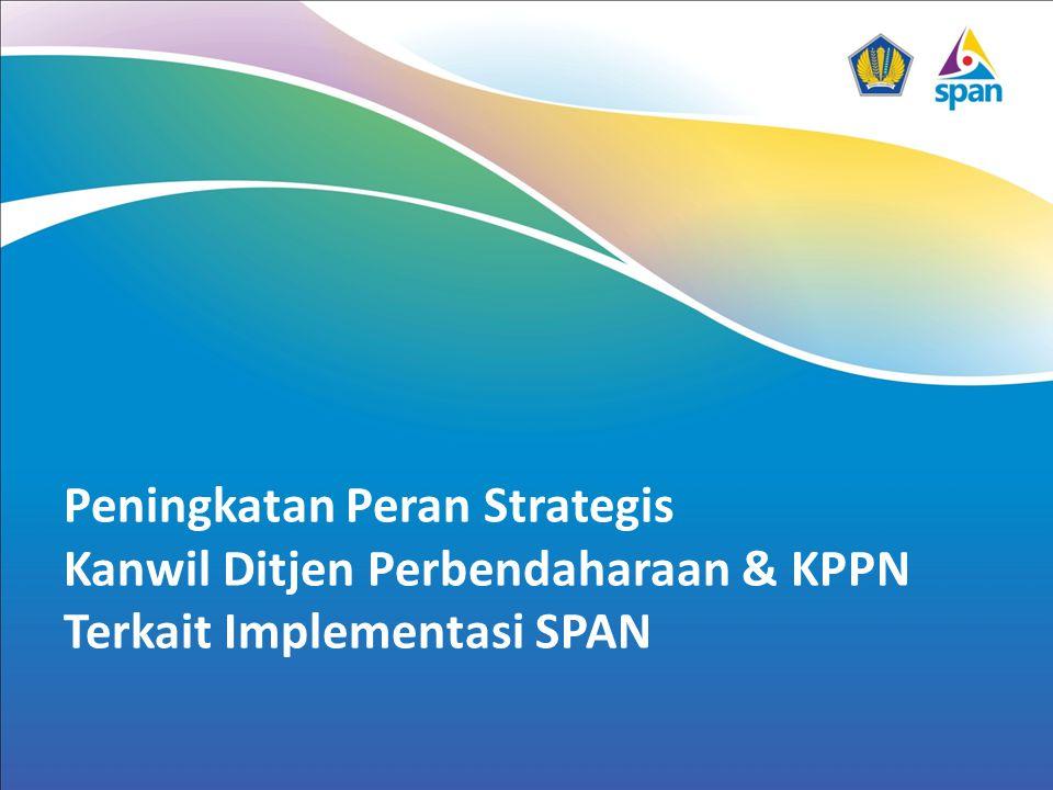 Outline 1.Roadmap & Perkembangan SPAN 2.Keunggulan SPAN 3.Koneksitas Kanwil dengan SPAN 4.Area Improvement proses bisnis di Kanwil DJPBN 5.Peran Kanwil DJPBN & KPPN masa depan