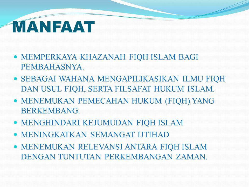 CAKUPAN LIHAT POKOK BAHASAN. (SILABI/SAP) UTAMANYA MASALAH MUAMALAH/IJTIHADIYAH.