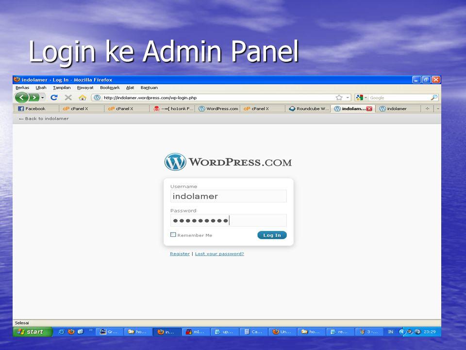 Login ke Admin Panel