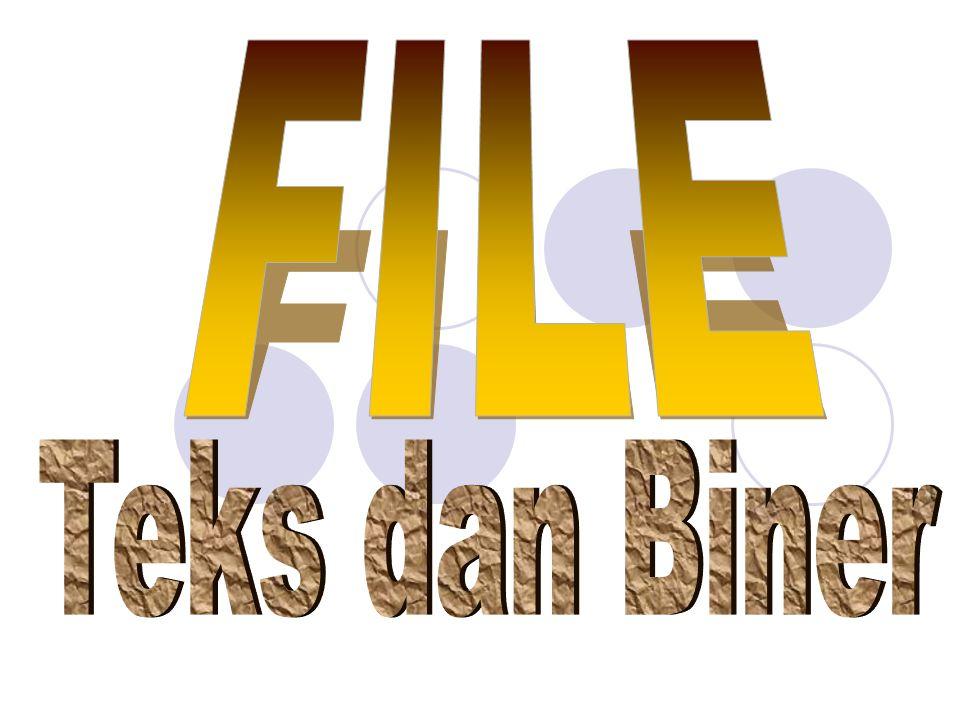//program untuk menulis ke dalam file teks kemudian menampilkan isi file ke layar #include Void main() { const int mak 80; file p; // deklarasi file