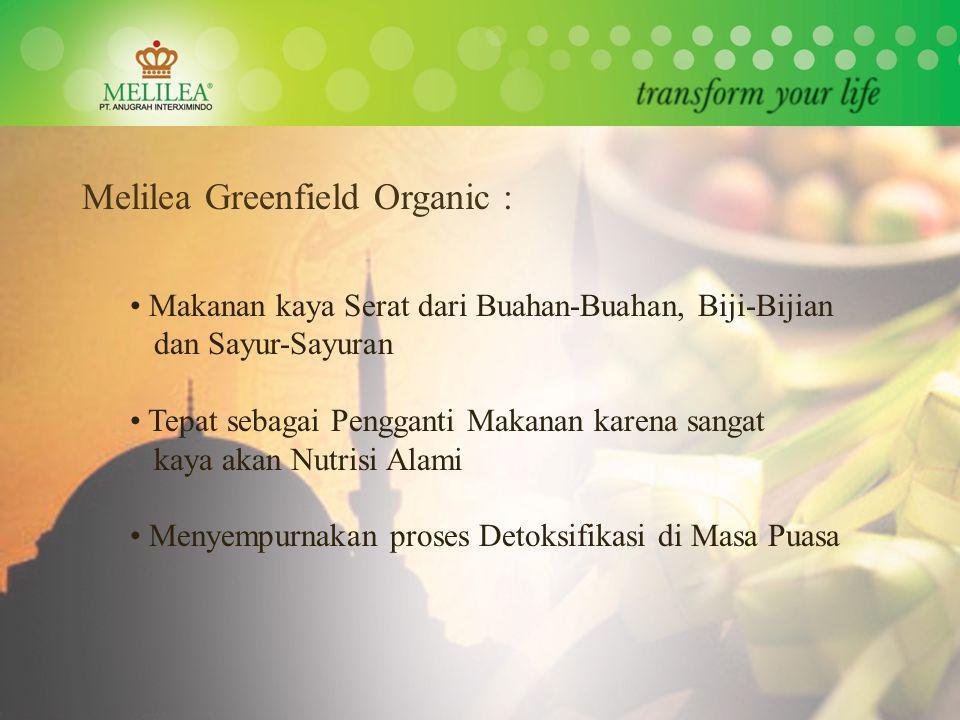 Melilea Greenfield Organic : Makanan kaya Serat dari Buahan-Buahan, Biji-Bijian dan Sayur-Sayuran Tepat sebagai Pengganti Makanan karena sangat kaya a