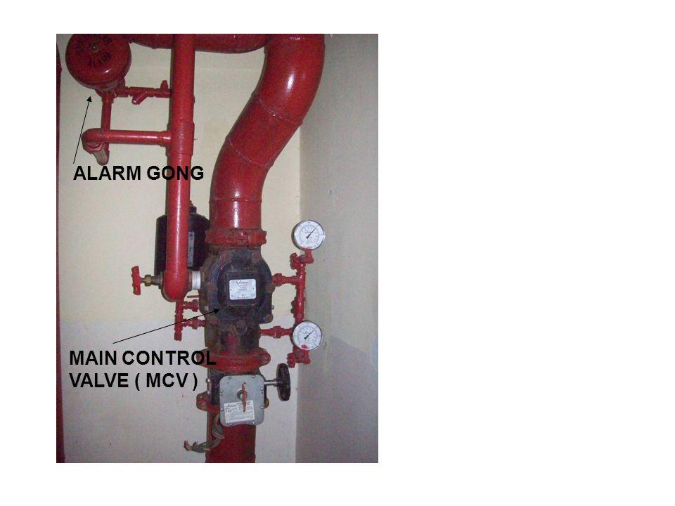 MAIN CONTROL VALVE ( MCV ) ALARM GONG