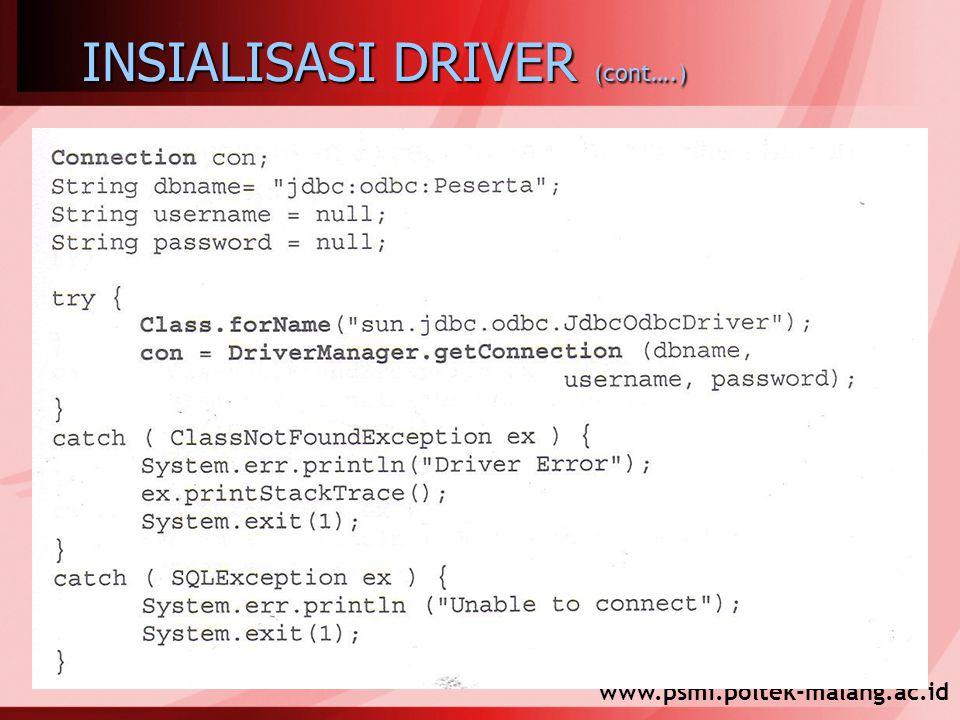 www.psmi.poltek-malang.ac.id INSIALISASI DRIVER (cont….)
