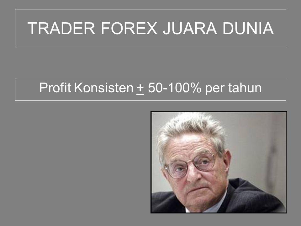 TRADER FOREX JUARA DUNIA Profit Konsisten + 50-100% per tahun