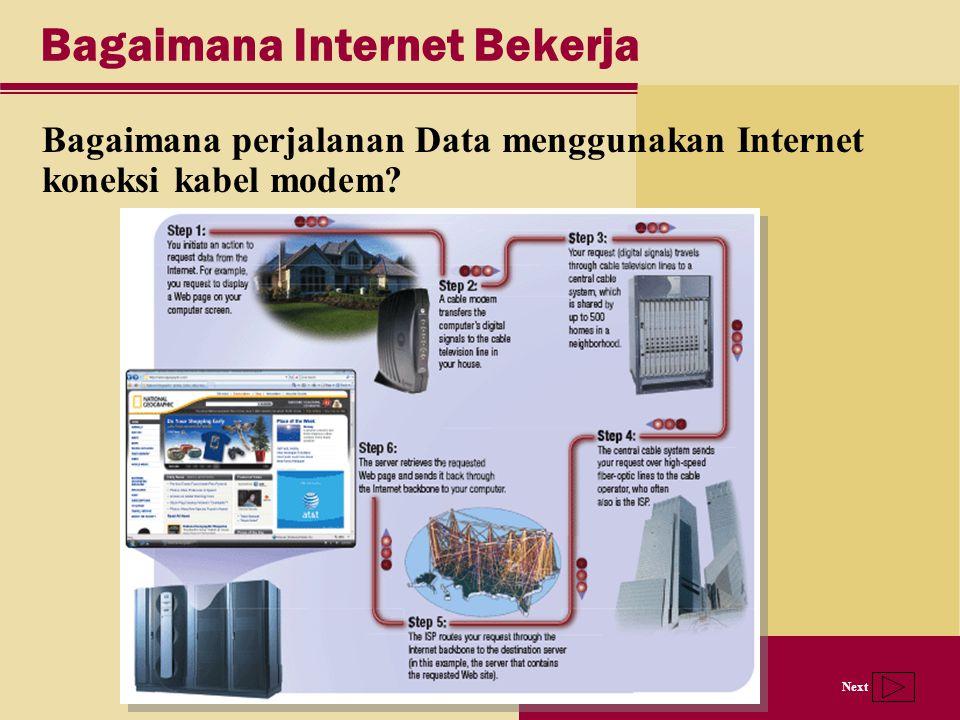 Next Bagaimana Internet Bekerja Bagaimana perjalanan Data menggunakan Internet koneksi kabel modem?