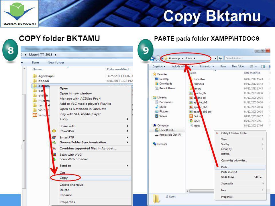 LOGO Mengatur dan Mengganti Header Aplikasi Buku Tamu 2 Buka Folder BKTAMU pada XAMPP/HTDOCS 3 Klik 2x pada file HEADER.PHP, Gunakan NOTEPAD