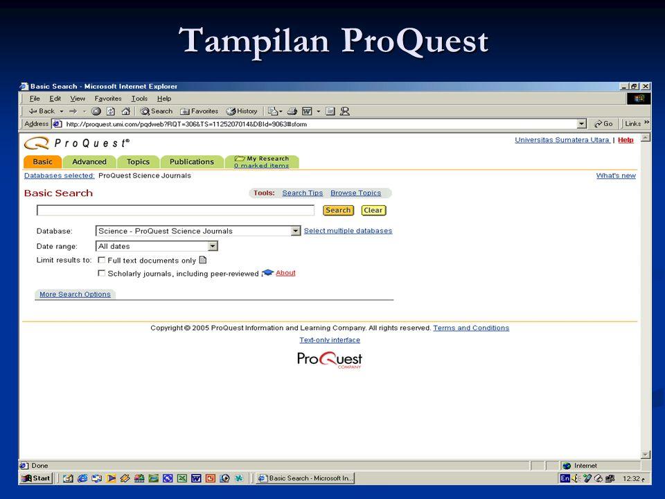 Tampilan ProQuest