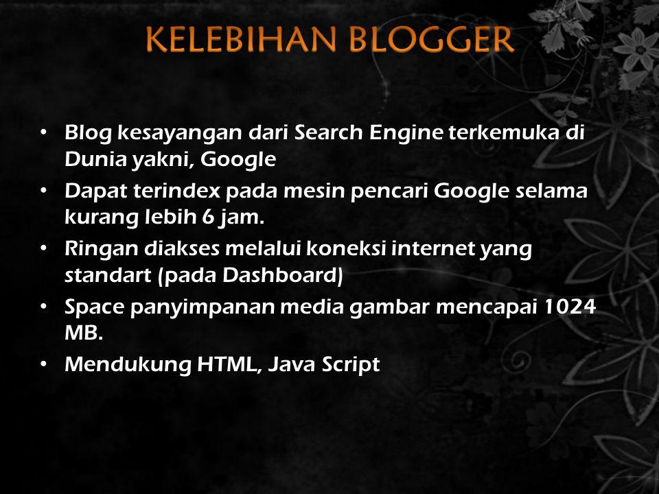 Blog kesayangan dari Search Engine terkemuka di Dunia yakni, Google Dapat terindex pada mesin pencari Google selama kurang lebih 6 jam. Ringan diakses