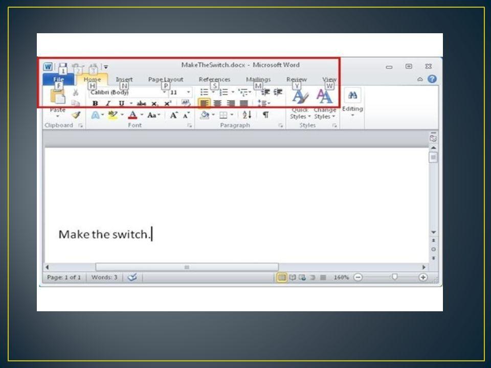 Untuk Akses Tombol Cetak Cepat: 1.Klik panah drop-down pada sisi kanan Quick Access Toolbar.