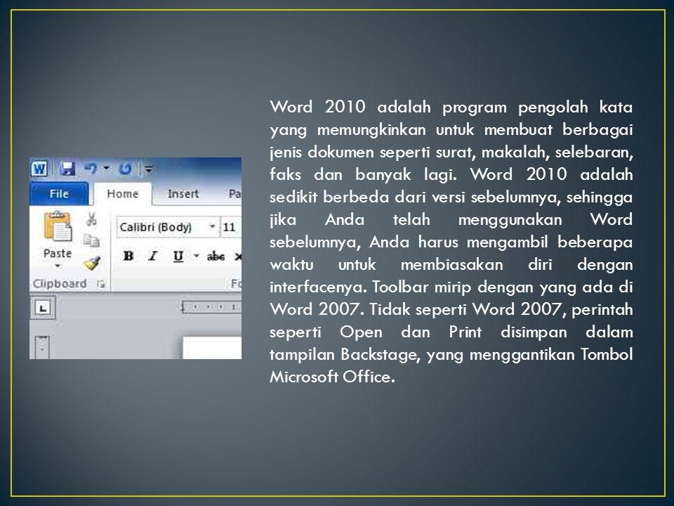 Mengenal Elemen Jendela MS-Word
