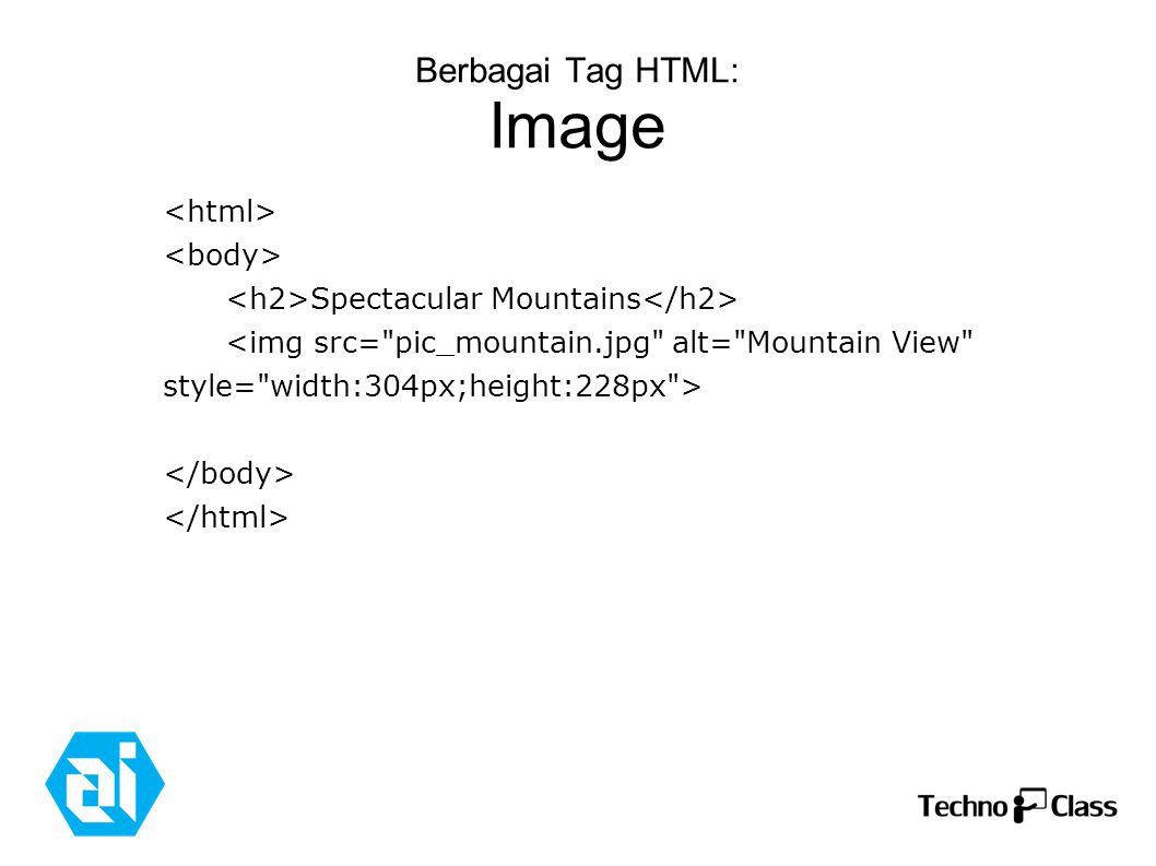 Berbagai Tag HTML: Image Spectacular Mountains