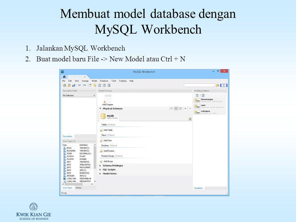 Tools MySql 1.phpMyadmin 2.MySQL Workbench 3.Lainnya
