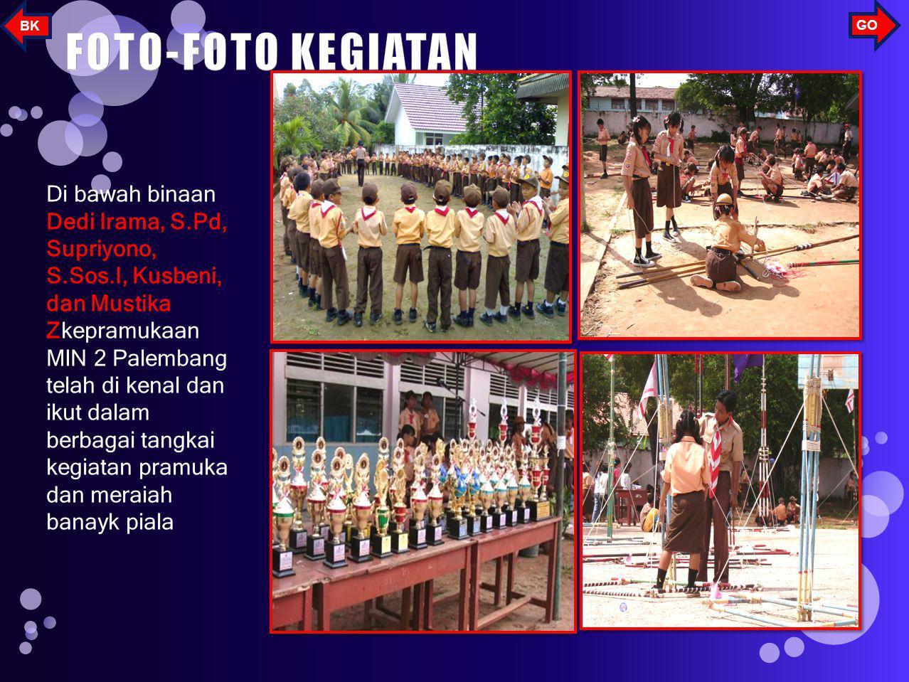 Untuk mengembangkan dan menggali potensi anak di sekolah-sekolah khususnya MIN 2 Palembang maka MIN 2 Palembang menyelenggarakan beberapa kegiatan eks