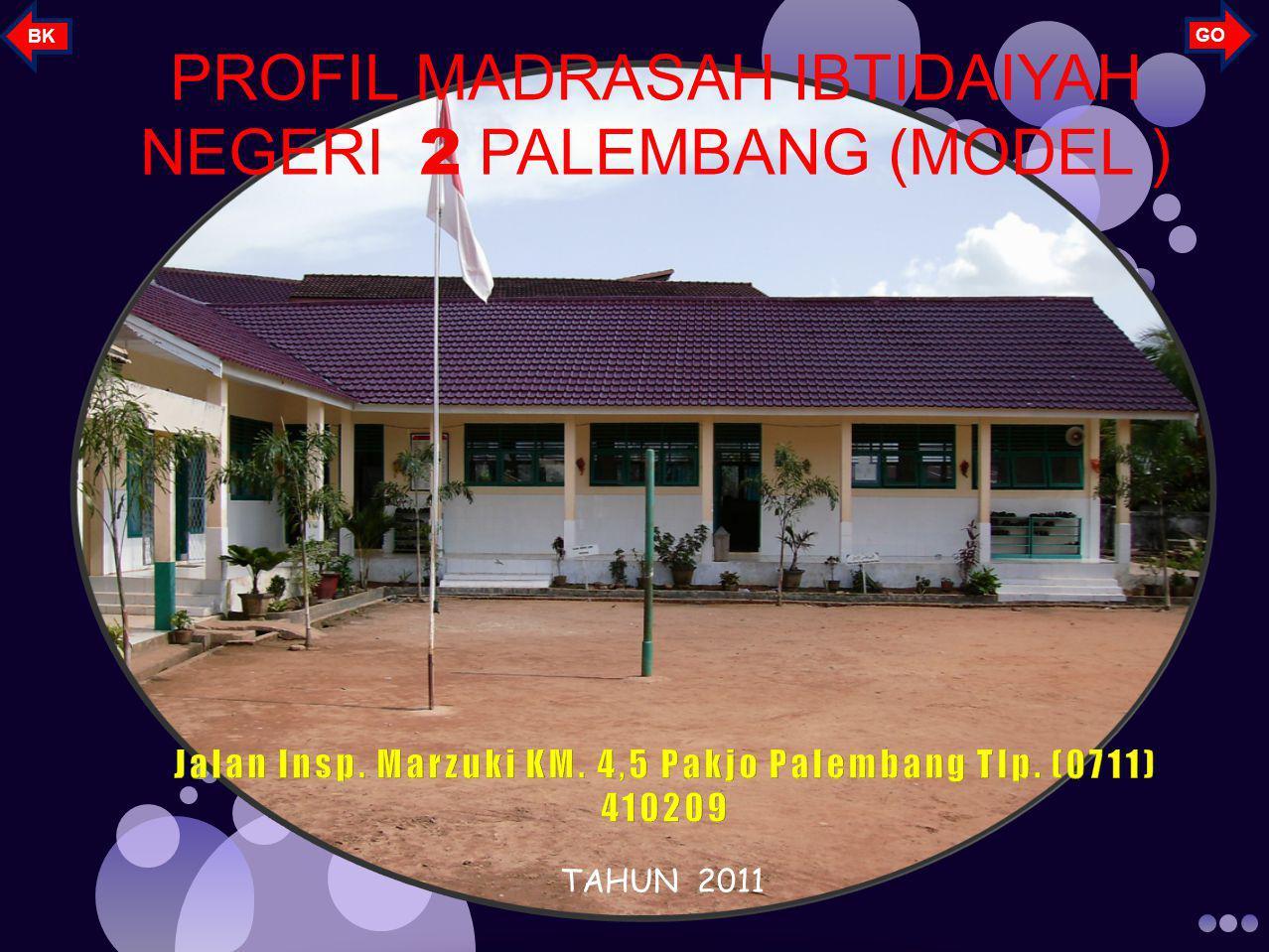 PROFIL MADRASAH IBTIDAIYAH NEGERI 2 PALEMBANG (MODEL ) TAHUN 2011 GO BK