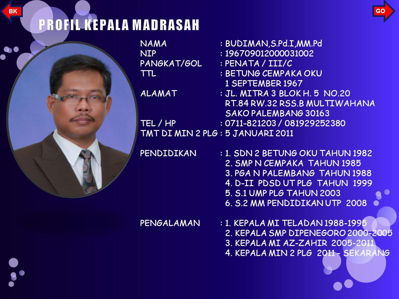 Penyediaan Ruang UKS di MIN 2 palembang untuk pelayanan seluruh warga MIN 2 Palembang GO BK