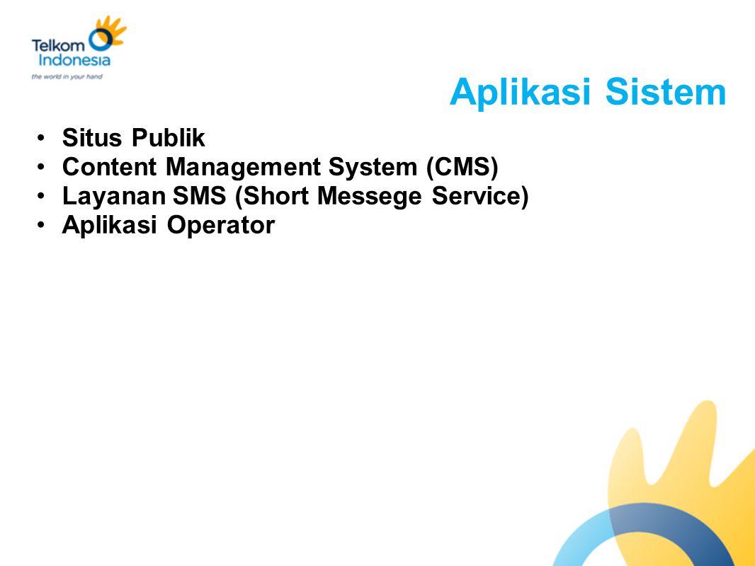 Aplikasi Sistem Situs Publik Content Management System (CMS) Layanan SMS (Short Messege Service) Aplikasi Operator