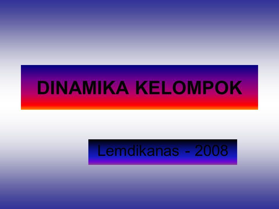 DINAMIKA KELOMPOK Lemdikanas - 2008