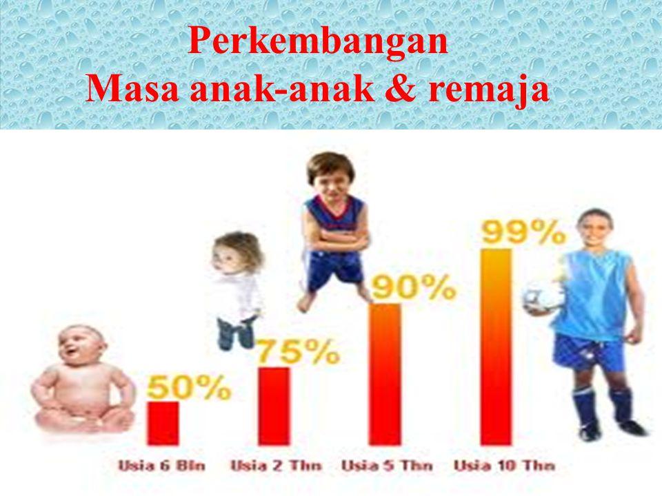 Perkembangan Masa anak-anak & remaja