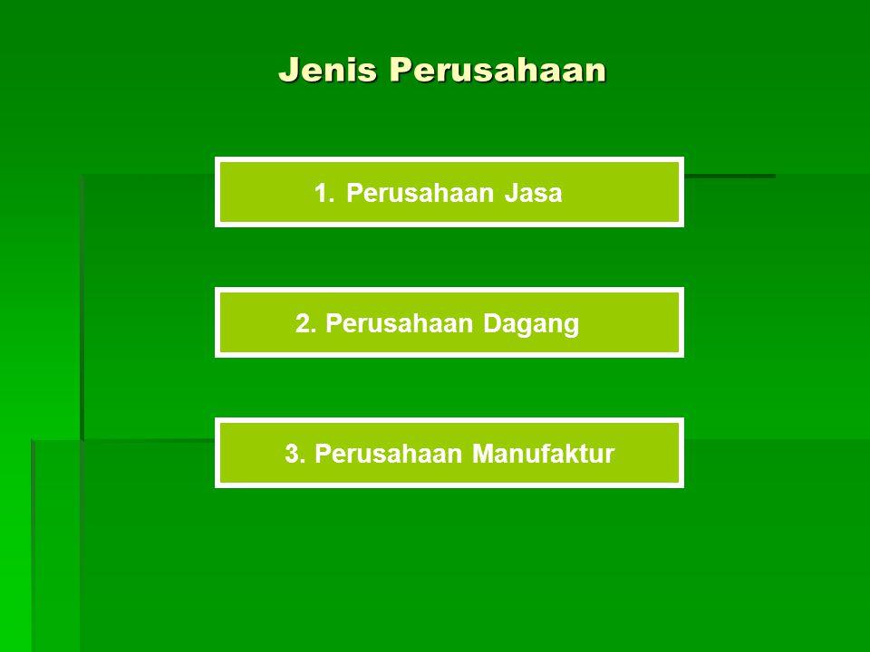 Perusahaan Jasa Perusahaan Jasa adalah perusahaan yang produknya adalah yang bersifat nonfisik.