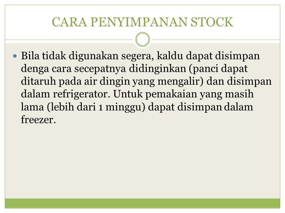 PENGGOLONGAN STOCK (berdasarkan warna) 1.