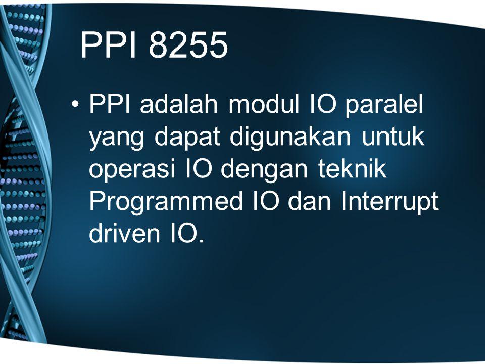 Sama seperti control word untuk mengkonfigurasi port, control word ini juga harus dikirimkan ke control register.