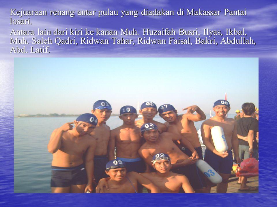 Kejuaraan renang antar pulau yang diadakan di Makassar Pantai losari.