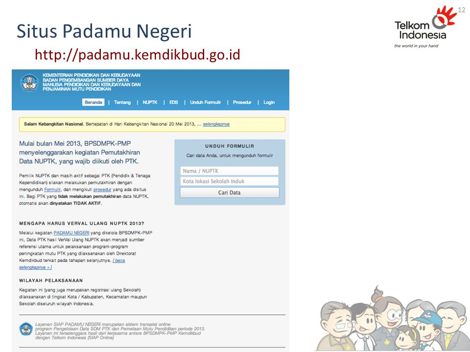 Situs Padamu Negeri 12 http://padamu.kemdikbud.go.id