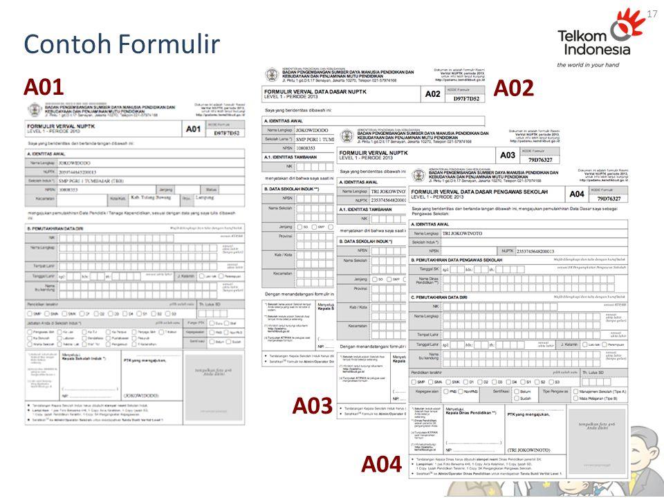Contoh Formulir 17 A01 A02 A03 A04