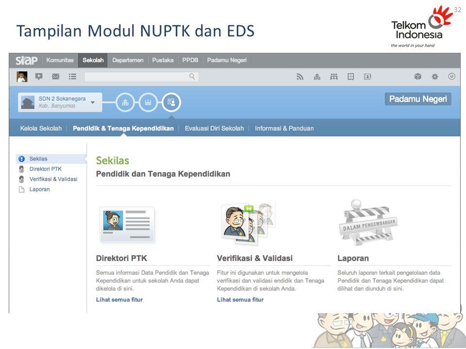 Tampilan Modul NUPTK dan EDS 32