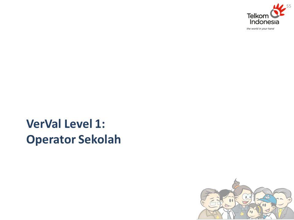 VerVal Level 1: Operator Sekolah 55