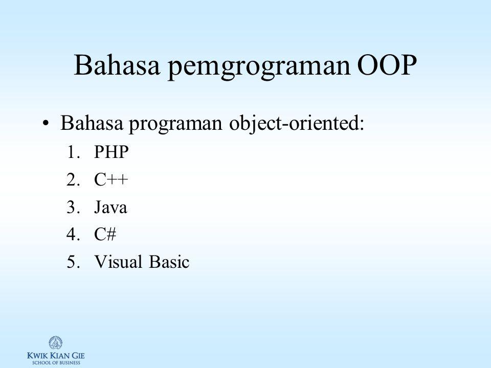 Konsep object-oriented programming/OOP Class: karakteristik suatu entitas, yang terdiri dari property dan fungsi.