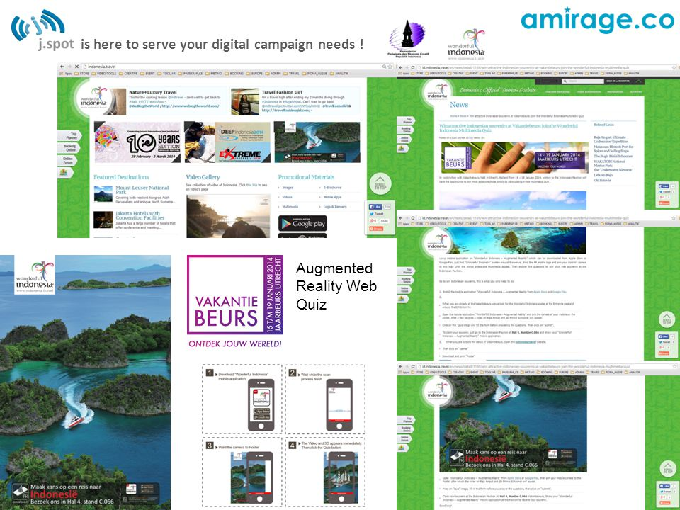 is here to serve your digital campaign needs ! Augmented Reality Web Quiz