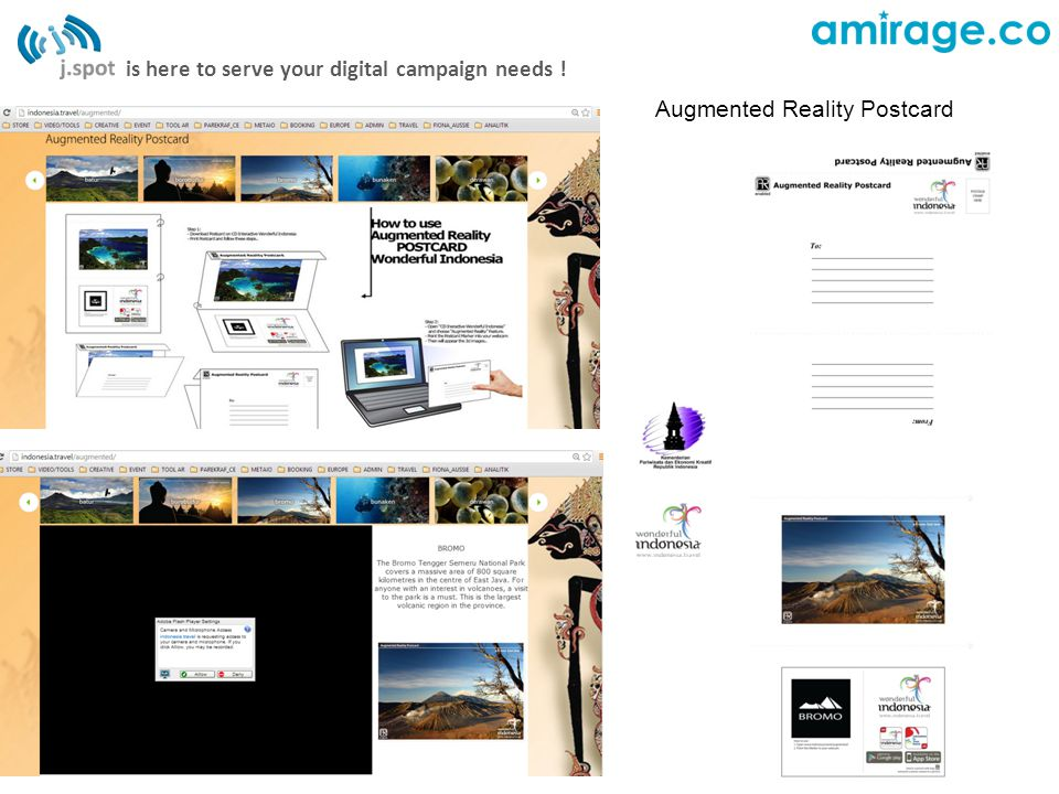 is here to serve your digital campaign needs ! Augmented Reality Postcard