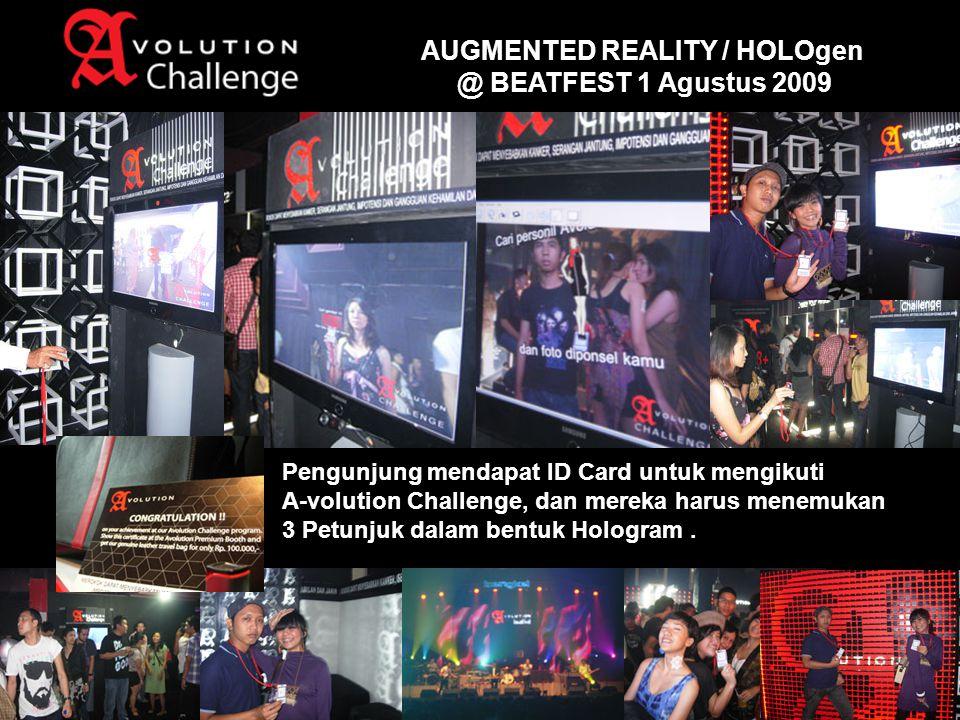 Pengunjung mendapat ID Card untuk mengikuti A-volution Challenge, dan mereka harus menemukan 3 Petunjuk dalam bentuk Hologram.