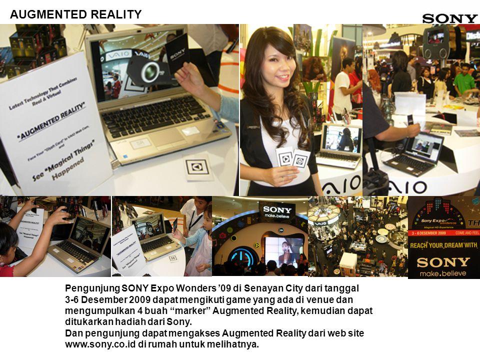 Pengunjung SONY Expo Wonders '09 di Senayan City dari tanggal 3-6 Desember 2009 dapat mengikuti game yang ada di venue dan mengumpulkan 4 buah marker Augmented Reality, kemudian dapat ditukarkan hadiah dari Sony.