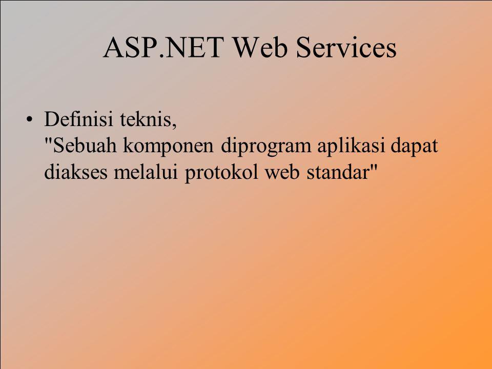ASP.NET Web Services Definisi teknis,